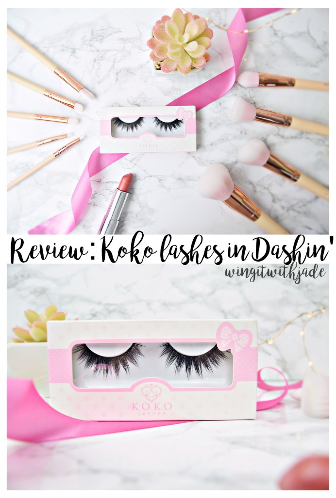 Review of Koko Lashes in Dashin www.wingitwithjade.com