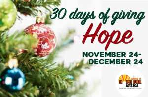 30 Days of Giving Hope