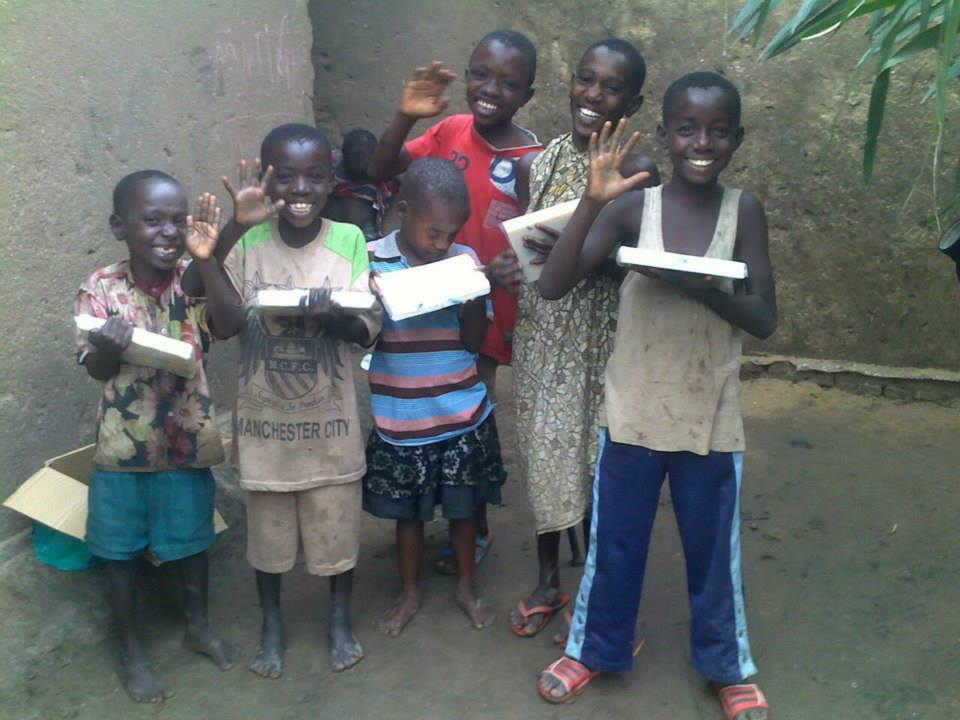 Children Receive Soap - Wings of Hope for Africa. donations from sponsors just like you.