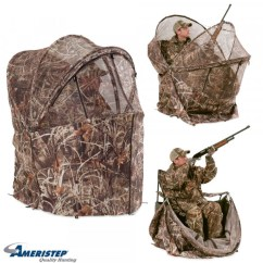 Duck Hunting Chair Rocking Pads With Ties Ameristep Commander Rapid Shooter Blind Wing Supply