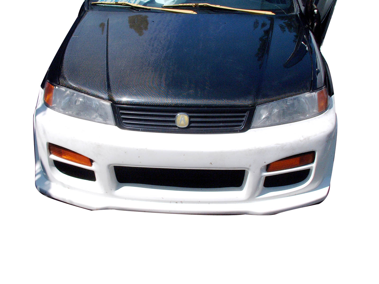 hight resolution of  1348 00 1996 2000 acura el domani 2dr 4dr oem style carbon fiber hood
