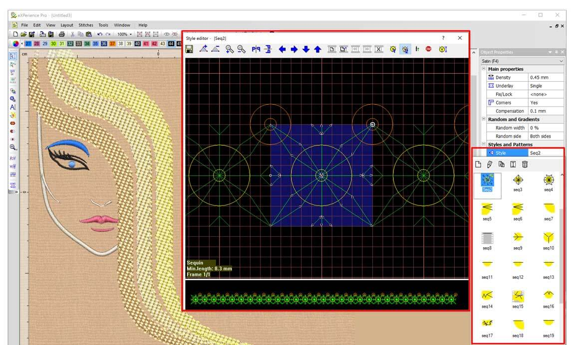 WINGS eXPerience Embroidery Software - Pro Level
