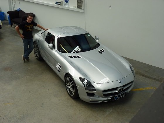 mercedes, 300sl, gullwing, c63, c63s, customised, car bra, stone chip film, paint protection film, winguard, adelaide, matte paint, adelaide, matt paint, decal, tint, XPEL, Ultimate, Stealth