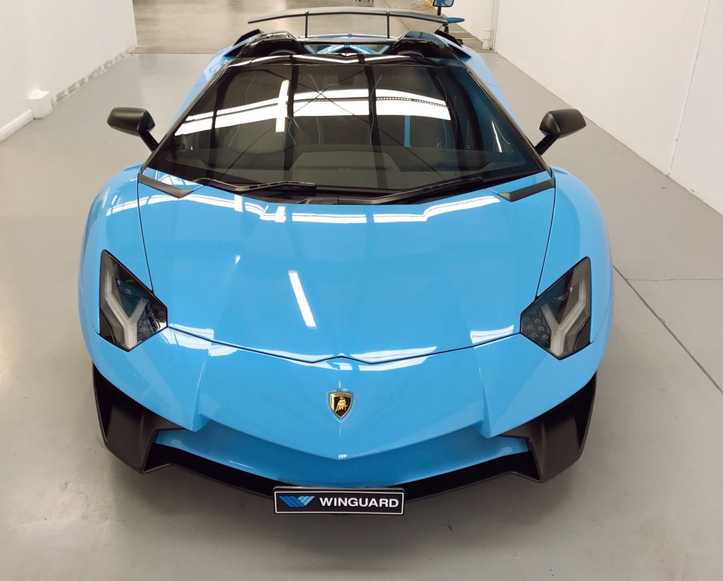lamborghini aventador, sv, stone chip film, paint protection film, winguard, adelaide, matte paint, matt paint, car bra, XPEL, PPF
