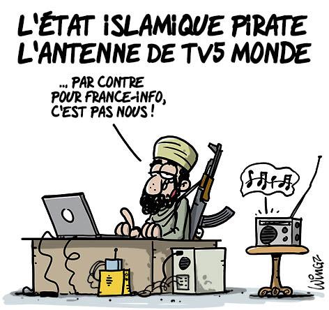 état islamique pirate TV5 monde