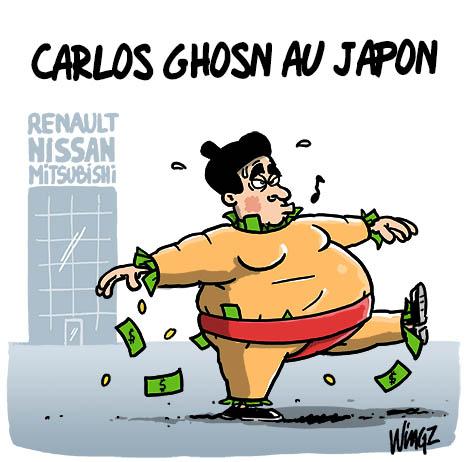 Le dessin du jour (humour en images) - Page 22 Carlos-ghosn-japon-fraude-fiscale-1