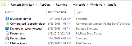 restore missing send to zipped compressed folder