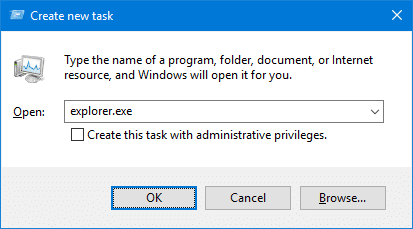 task manager new explorer.exe process