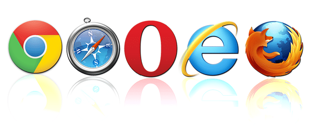 web browsers - chrome, firefox, opera, safari, IE