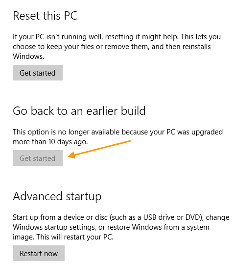 free disk space after windows upgrade