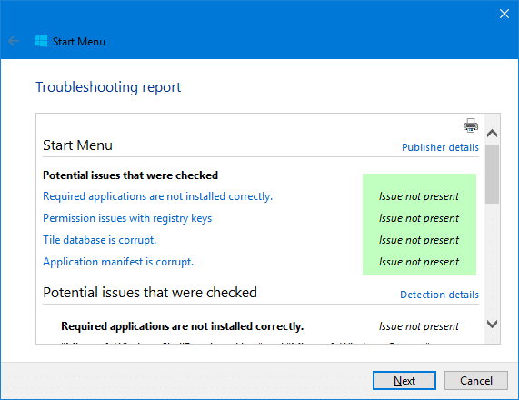 Fix] Windows 10 Start Menu does not work or causes \