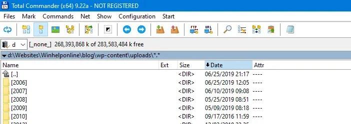 total commander flatten a directory