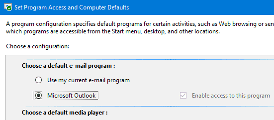 no email program associated