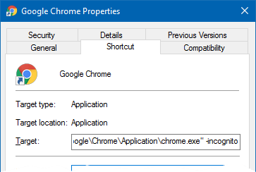 How to (Always) Start Google Chrome in Incognito Mode by Default