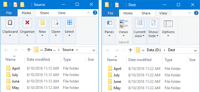 How to Compare the Contents of Two Folders and Synchronize them
