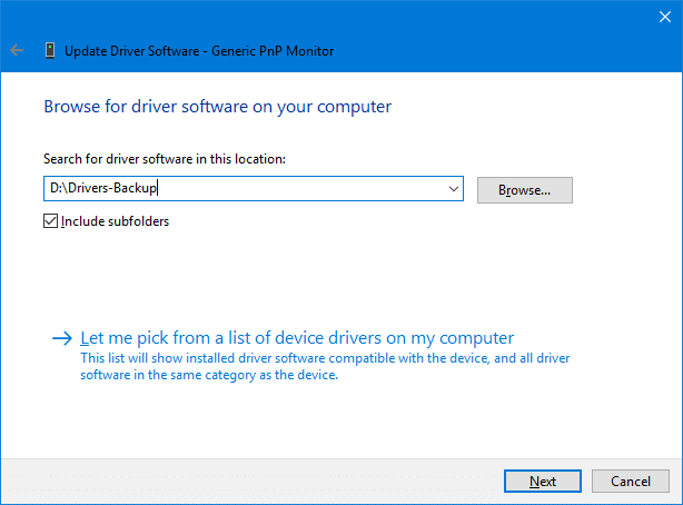 drivers backup restore in windows 10
