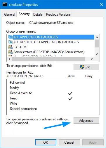 block cmd.exe access for a user