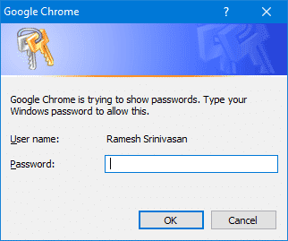 chrome import export passwords