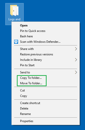 add copy to and move to in context menu