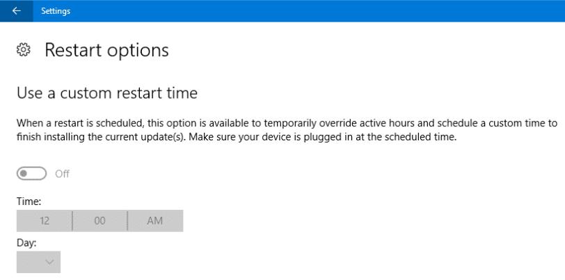 windows update prevent restart active hours