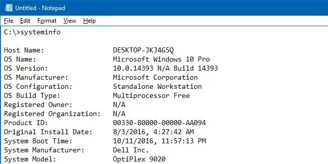 copy command prompt output