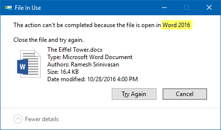 Find Which Process Has Locked a File