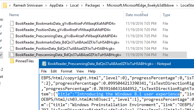 delete edge epub bookmarks