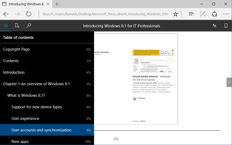microsoft edge gets EPUB ebooks support