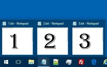 quickly switch program windows in taskbar