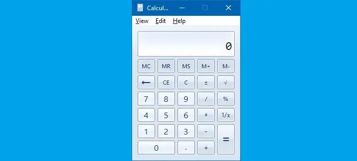Get Old calculator in Windows 10