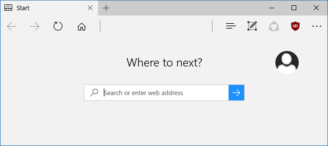 how to make an address bar show blank on redirection