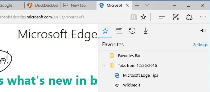 set aside tabs in edge