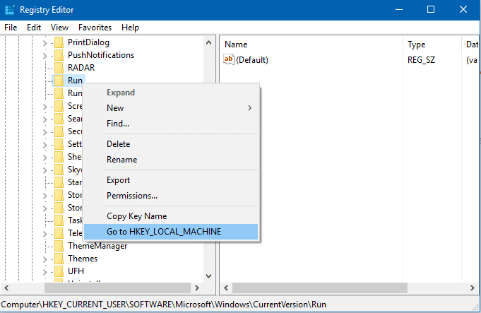 switch between hkcu and hklm registry
