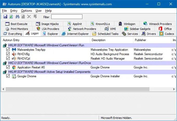 remove taskmgr startup entries