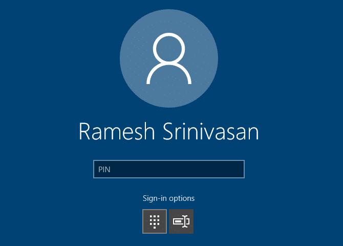 windows 10 login screen header