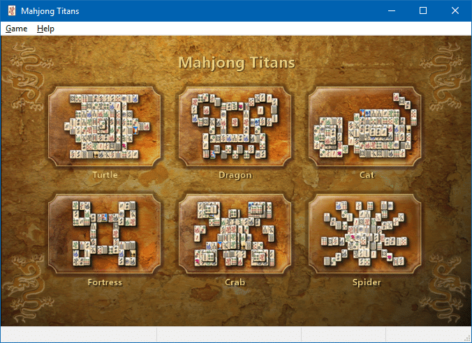 play mahjong titans in windows 10