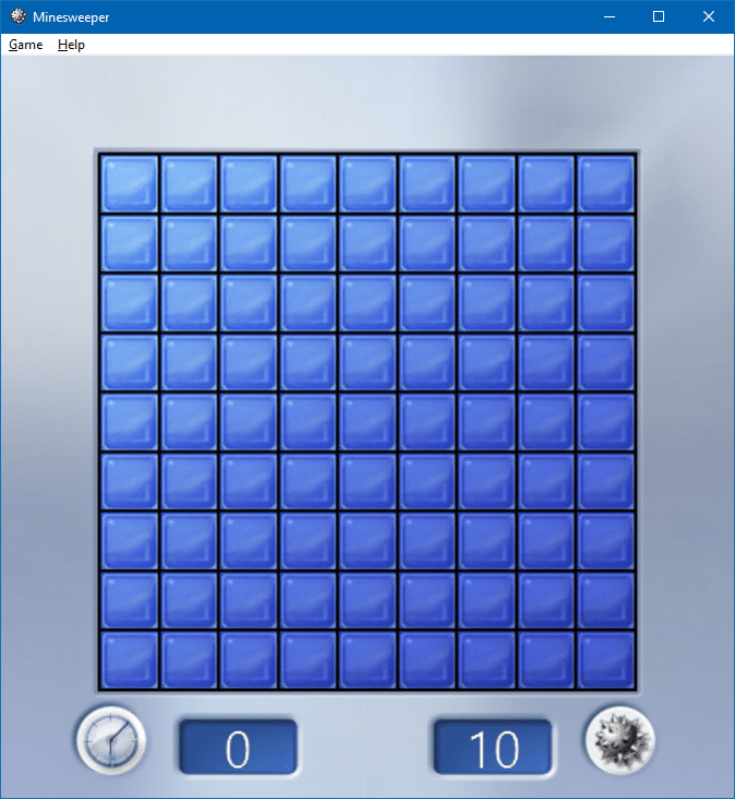 play minesweeper in windows 10