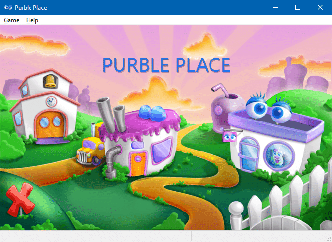 play purple place in windows 10