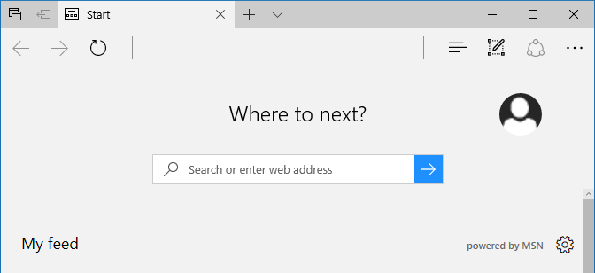 edge search box default placeholder text