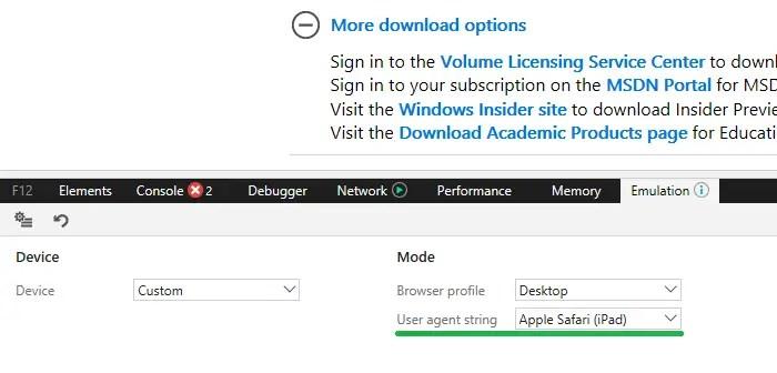 edge change user agent string