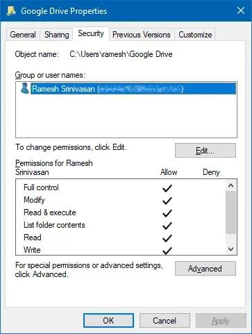 google drive folder permissions