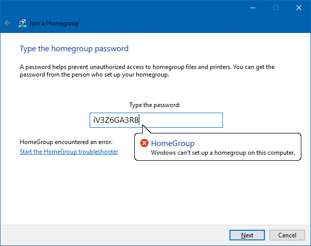 cant access homegroup files windows 10