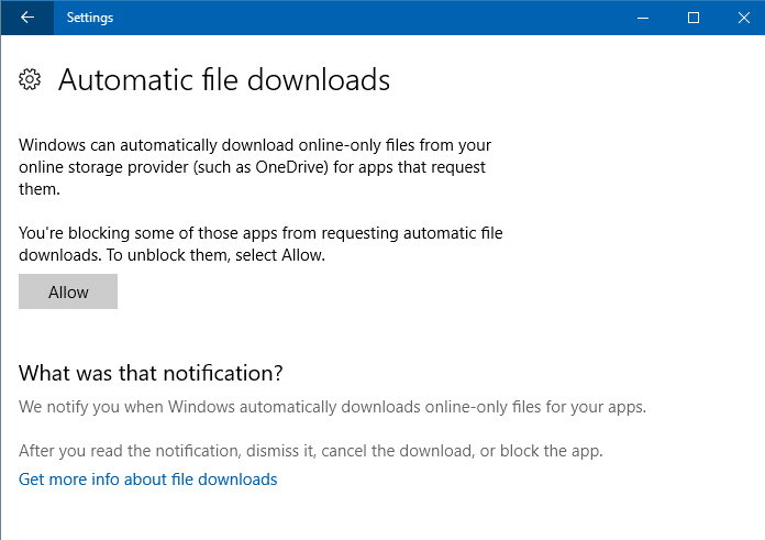 OneDrive Files On-Demand Downloads - Block and Unblock Apps via