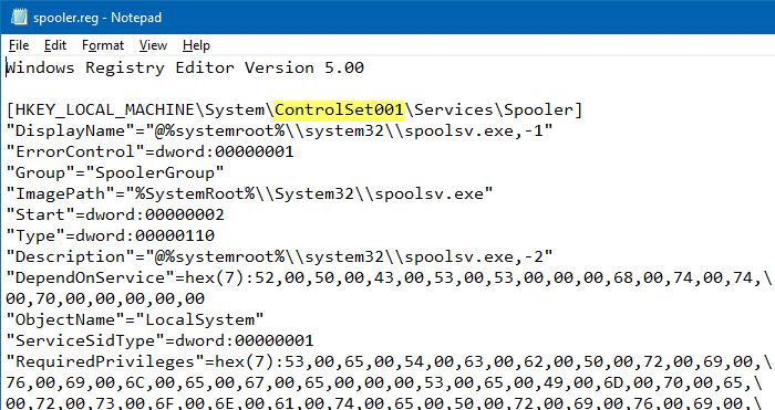 registrychangesview export .reg