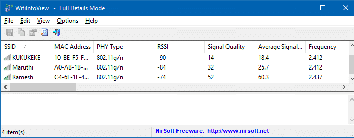 wifiinfoview list of ssids