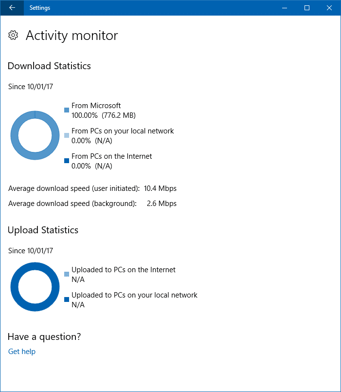 windows update activity monitor bandwidth