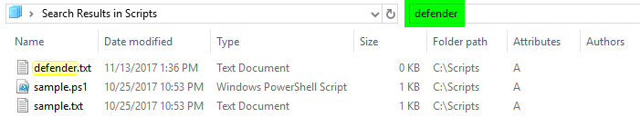 AQS and windows search content search