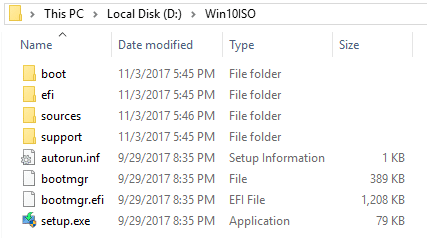 extract iso contents to a folder