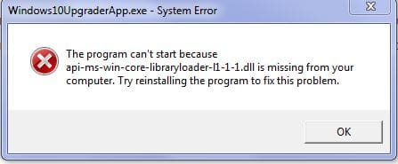 Fix: Api-ms-win-core-libraryloader-l1-1-1.dll Missing Error During