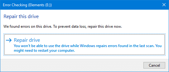 disk error checking windows
